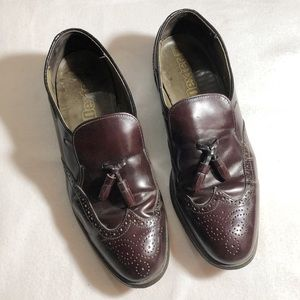 Dexter 11M Leather Brown Tassel Dress Loafer Shoes